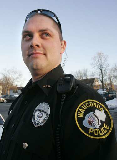 Wauconda police officer Eric Schultz, 24, has been fitted with a prosthetic foot and his cancer is in remission.