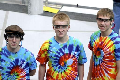 Many small teams worked on the overall project, including one made up of senior Jacob Mandozzi, left, freshman Jacob Wachlin and senior Brian Korves.