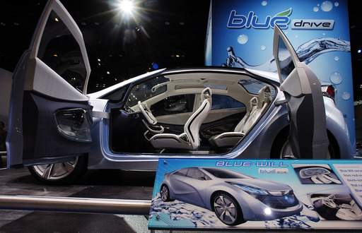 Hyundai's concept car concept car the Blue-Will at the Chicago Auto Show.
