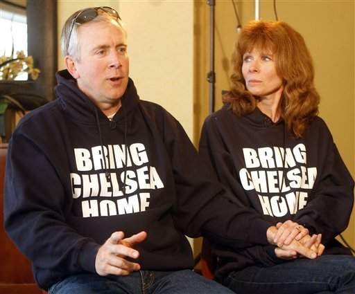 Brent King, left, with his wife, Kelly, talks about his daughter, Chelsea, 17, who has been missing since Feb. 25, during an interview in San Diego on Monday.