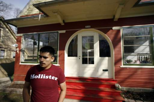 Eligio Guerrero and his parents were able to save their home on Division Street from foreclosure.