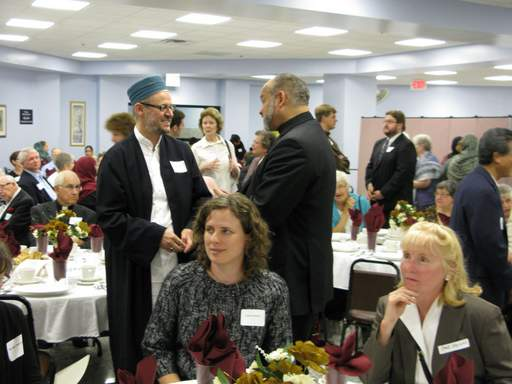 More than 300 people from different faith communities attended an interfaith iftar, or fast-breaking meal, at the Islamic Community Center of Des Plaines Tuesday.