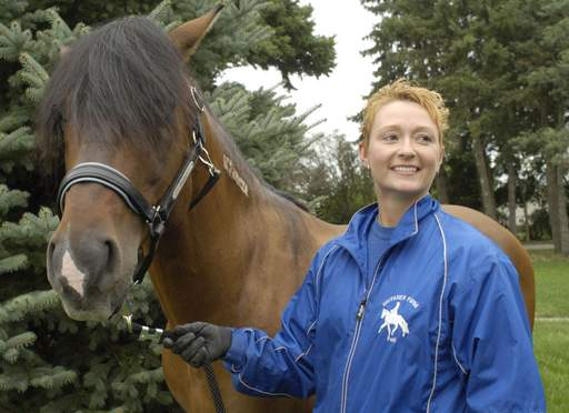 Patti Gruber is a manager/trainer at Wayfarer Farm, Wauconda, where her horse lives.